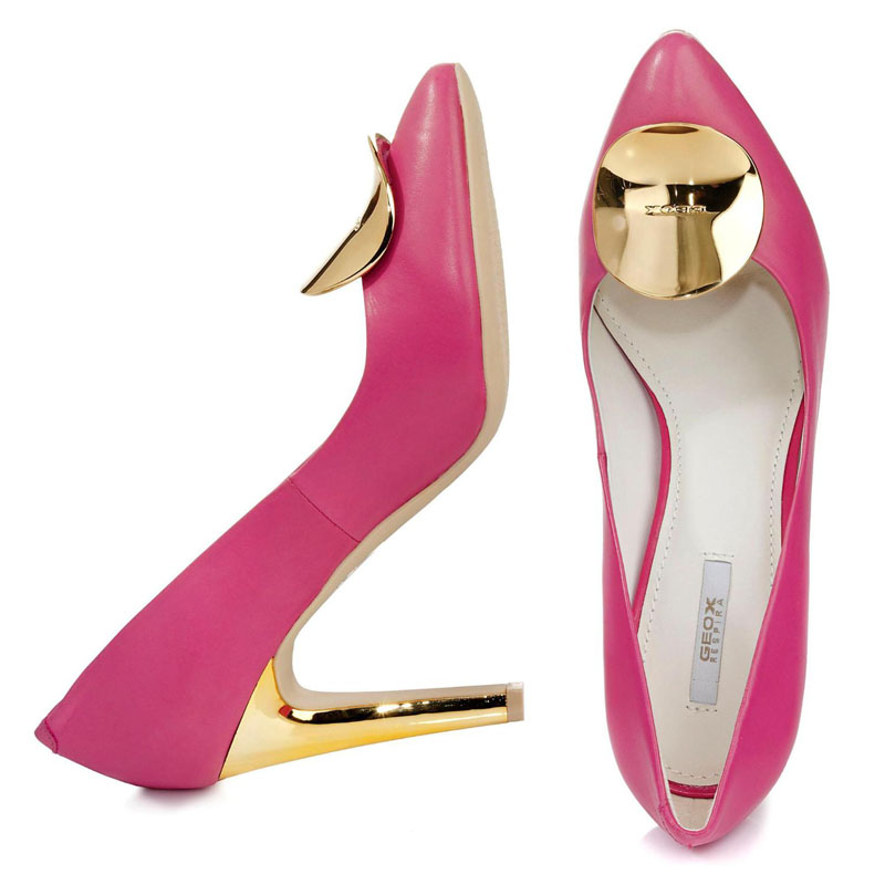 Geox Pumps metallic Applikation pink
