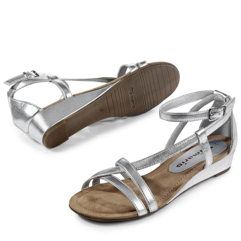 Tamaris Sandale silber metallic-look