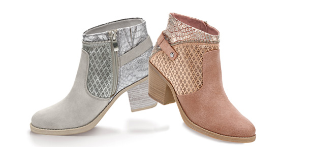 Booties mit Metallic-Effekt