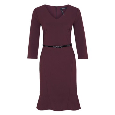s.Oliver Black Label Kleid in bordeaux